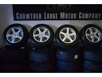 """x4 Genuine FOX 15"""" Alloy Wheels and Tyres"""
