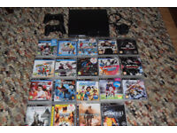 PS3 160GB console bundle with 19 games, two controllers and camera move- I can post
