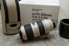 Canon 70-200 F2.8 IS II and Canon 24-105 F4 IS Lenses