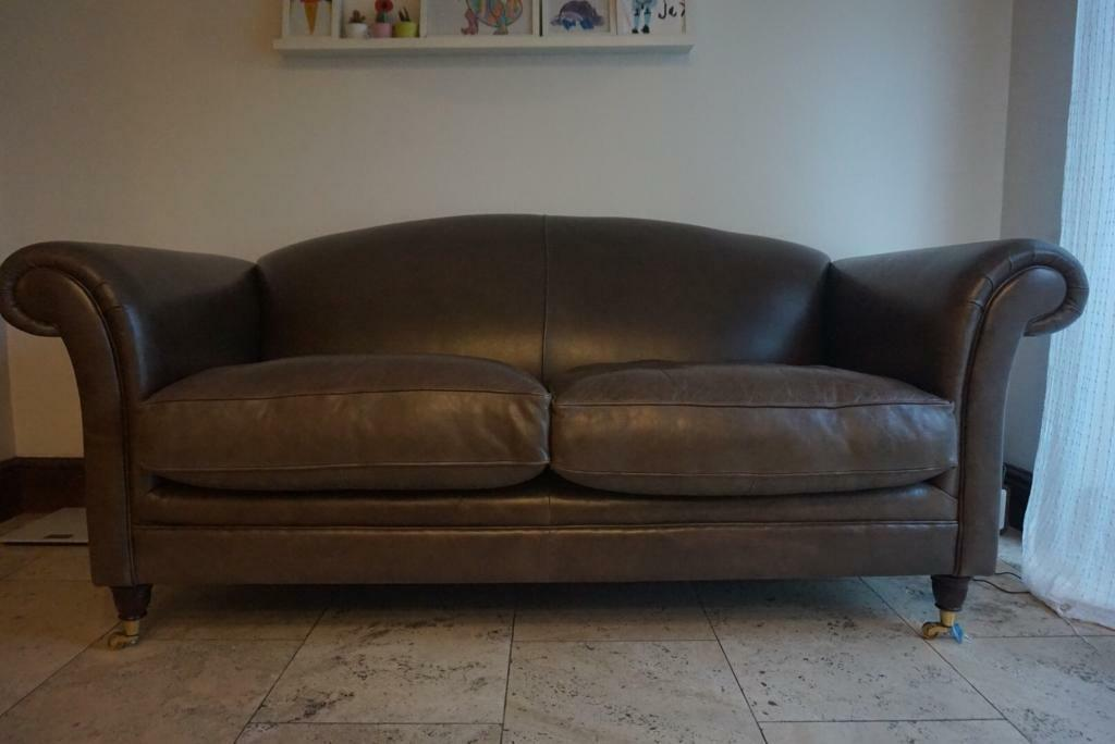 Laura Ashley Large 2 Seater Leather Sofa In Swindon