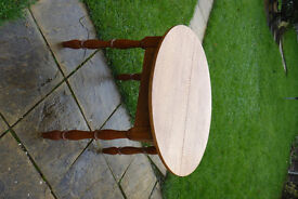 Solid wood extending table with 3 chairs, table believed to have been made in Holland.