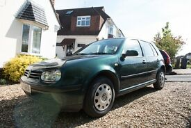 VW Golf Mk4 2000 Green 1.6 Petrol 114190 Miles