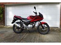 Honda CBF 125 09 Red 8335 miles