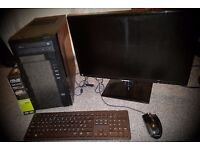 £400 IF GONE TONIGHT / GAMING PC - Monitor / GTX 950 / AMD FX / SSD / HDD / Windows 10