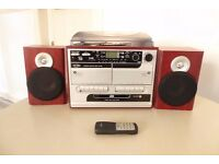 Stereo - Vinyl Record Player, CD, Radio, Tape, USB and SD