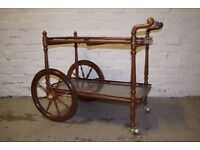 Indian Carved Tea Trolley (DELIVERY AVAILABLE)