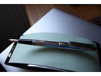 MONT BLANC SOLID SILVER FOUNTAIN PEN AS NEW WITH BOX