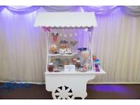 Large white sweet cart for sale,