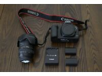 Canon 5D Mark II camera body, Canon 24-105mm lens, 2 Canon batteries, Canon battery charger