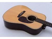 Martin HD-28 Retro Electric Acoustic Guitar + Case ~ Perfect Condition