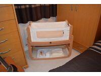 The Bedside Crib SnüzPod+SnüzPod mattress+mattress protector
