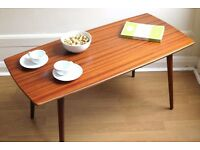 Stylish 'Staples & Co.' vintage Danish style teak coffee table. Delivery. Modern / Midcentury.