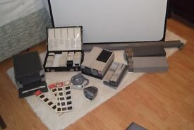 Photographic slide projector and equipment