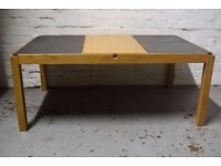 slate top coffee table (DELIVERY AVAILABLE)