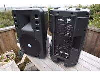 RCF 200A POWERED SPEAKERS x 4 with power leads sold as all 4 or as 2 pairs SEE description.
