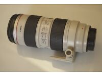 Canon F/2.8 70-200 Zoom Lens IS L USM Sharp Copy A+ Condition & Case, Box, Hood