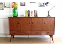 Stylish Vintage walnut Danish style sideboard. Delivery. Modern / mid century.
