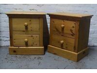 Pair of solid pine bedside cabinets (DELIVERY AVAILABLE)