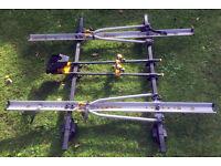 Thule roof rack with 3 bike carriers – fits standard roof bars 02 Audi A4, 04 Rav 4, 07 Kia sportage