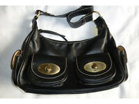 David Jones Black Leather Handbag