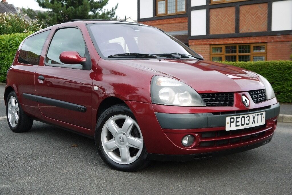2003 Renault Clio 1 4 16v Dynamique Red In Westhoughton
