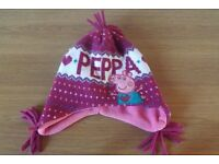 Girls Debenhams Peppa Pig Hat and Gloves Age 3-6