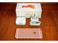 APPLE IPHONE 6S - ROSE GOLD - 64GB - APPLE CARE WARRANTY - ROYAL MAIL