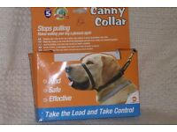 NEW, UNUSED Dog Canny Collar size 5, neck 17 - 19 inches, Black,Help Stop Your Dog Pulling, Histon
