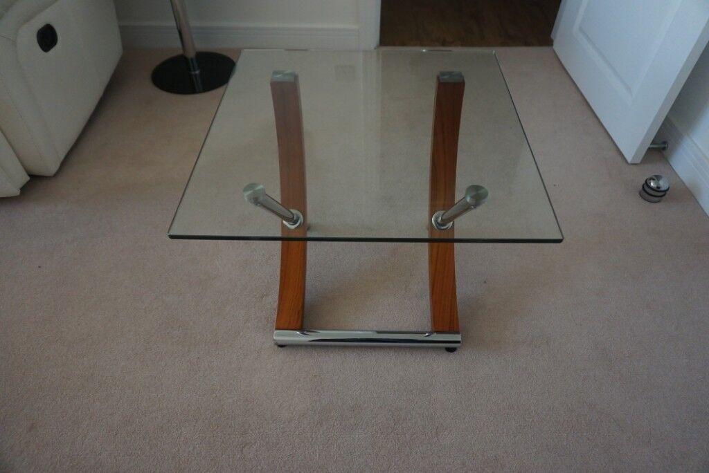 Elegant Glass Lamp Table (Chelsom Tusk Range) | in West Parley, Dorset |  Gumtree