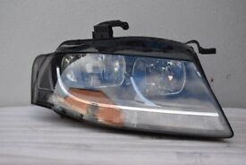 AUDI A4 B8 GENUINE HEADLIGHT DRIVERS SIDE 08-12
