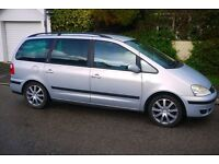 Ford Galaxy Ghia. MPV 7 seater, many uses. Upgraded alloys, swivel seats, tinted windows. High spec.