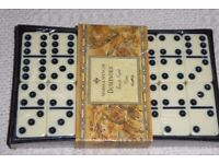 Marks & Spencer 28 Piece Dominoes Set with Black Case, Unopened, Still Sealed, Instructions, Histon