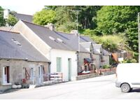 Residential property in Brittany. A terraced property ready for renovation in small town.