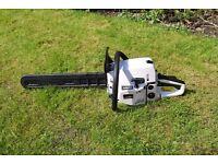 "petrol chainsaw professional tool kraftech ETC 52 CC 20"" cut"