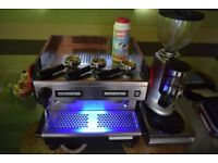 COMMERCIAL RANCILIO MIDI DE 2 group + Grinder + Knock Out Box + BRITA water filter