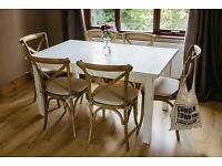 White 'shabby chic' Dining table.