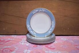 Pyrex JAJ Hawthorn Azure Blue 5 Side Plates retro vintage