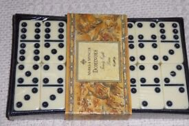 Marks & Spencer 28 Piece Dominoes Set with Black Case, Unopened, Still Sealed, Instructions,, Histon