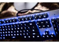 HAVIT HV-KB376L Blue LED Backlit Wired Mechanical Gaming Keyboard with Blue Switches