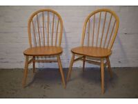 Pair of Ercol Windsor chairs - 'as new' (DELIVERY AVAILABLE)