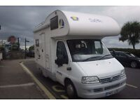 MOTORHOME FIAT DUCATO SEA DINGHY 2003 4 BERTH 38K 1.9 TD POSSIBLE PX SOLAR PANEL
