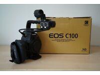 Canon Cinema EOS C100 Professional camcorder camera   Includes Accessories.