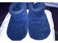 mens slipper socks new never been worn size 9-10 navy blue