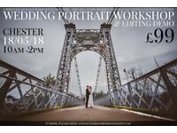 £99 WEDDING PORTRAIT WORKSHOP - PORTFOLIO SHOOT + EDITING DEMO Second 2nd photographer assistant