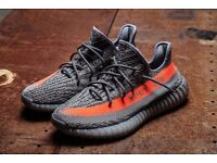 ADIDAS YEEZY BOOSTS 350 V2 BELUGA/RED - UK SIZE 9 PRICE REDUCED!!