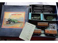 VINTAGE HORNBY CLOCKWORK O GAUGE No501 PASSENGER TRAIN SET. 1950!