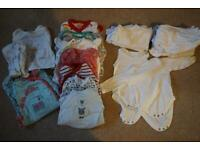 24x piece neutral 3-6 month essential clothing bundle