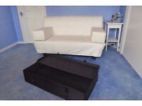 DOUBLE SOFABED: Lyksele (from IKEA) with underbed storage box