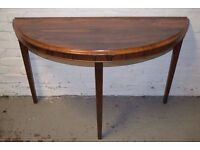 rosewood half moon table (DELIVERY AVAILABLE)