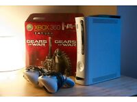 MICROSOFT XBOX 360 - Gears of War 2 Bundle, 120GB, 2 Original Controllers with Battery Packs